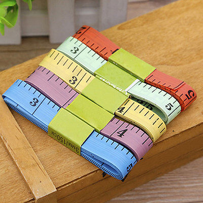 "4 Pcs Body Measuring Ruler Sewing Cloth Tailor Tape Measure Soft Flat 60""."