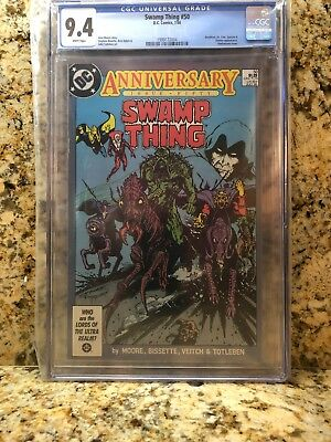 Swamp Thing #50 Anniversary (Jul 1986, DC) White Pages CGC 9.4