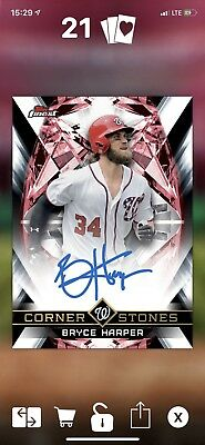 Topps Bunt 2018 Bryce Harper Cornerstones Signature Award 30cc (digital card)