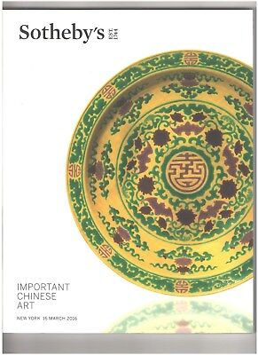 Sotheby's Catalog, Important Chinese Art, New York, 16 March 2016