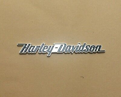 3D Metal Straight Letter Emblem / Badge For Harley Davidson Tank / Body