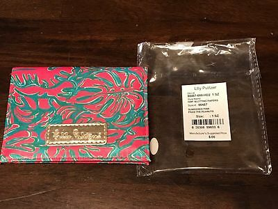 Lilly Pulitzer Please Pass The Peanuts Oil Blotting Paper Holder With Mirror NEW
