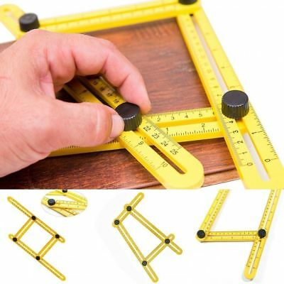 NEW Multifunction Angle Ruler Template Tool Easy Measuring Angle-izer Four sided