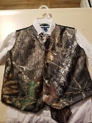 941f743f82e64 Camo Tuxedo Vest Hunting Camouflage Formal Tie Set Wedding with tommy  Hilfiger