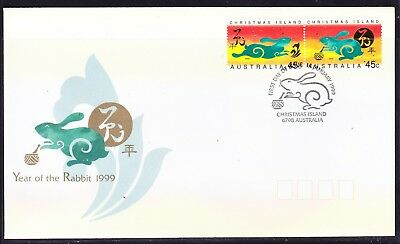 Christmas Island 1999 Year of Rabbit  First Day Cover  APM31700