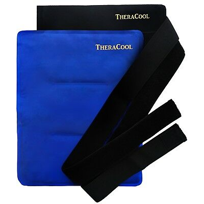 Ice Packs for Injuries Reusable Large Hot Cold Gel Wrap w/Strap by TheraCool