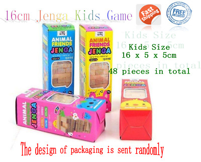 Jenga Kids Game Wooden Blocks Natural Stacking Tower Tumbling Board Family Fun