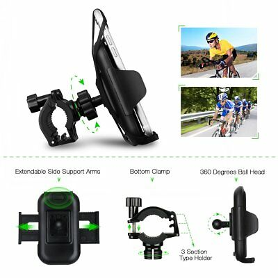 Mpow Bike Phone Mount Holder Universal Smartphone Cradle EASY INSTALL AND REMOVE