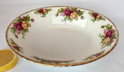 ROYAL ALBERT OLD COUNTRY ROSES Oval Serving Bowl ENGLAND Bone China Gold Trim 9""