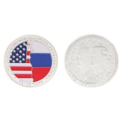 Commemorative Coin President Trump Putin Meeting Collection Arts Gift Souvenir
