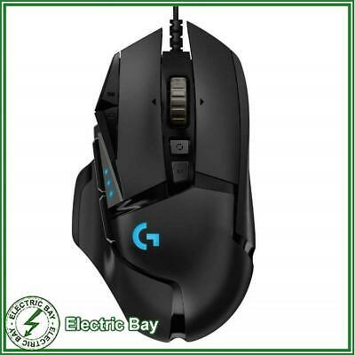 Logitech G502 HERO Optical Gaming Mouse RGB LED Wired USB 16000 DPI Black