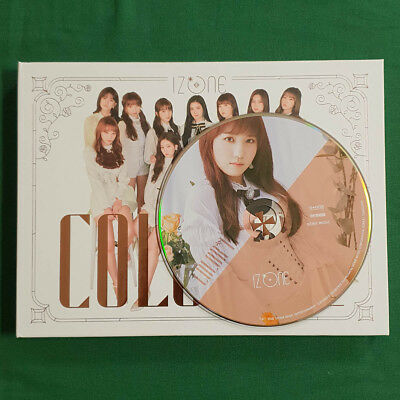 [No Photocard]Honda Hitomi Plate IZ*ONE 1st Mini Album COLOR*IZ Rose Ver Genuine