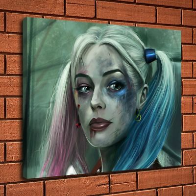 """24""""x28""""Harley Quinn Picture Home Decor Room HD Canvas prints Wall art Painting"""