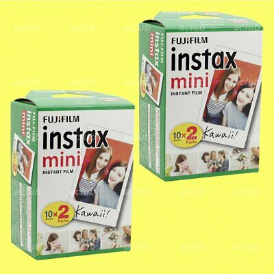 20 Sheet Fujifilm Instax Mini Instant White Film x 2 Pack