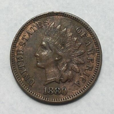 United States 1880 Indian Head One Cent High Grade