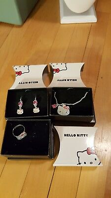 New in box avon Hello Kitty sanrio  Jewelry set necklace , earrings& ring