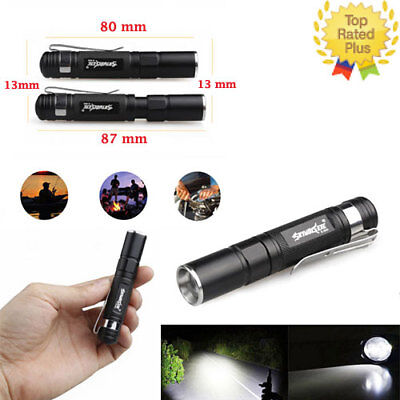 Zoomable Mini LED Flashlight Powerful Lamp Hunting Camping 3- Mode Torch 20000lm