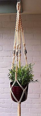 Macrame Pot Holder - Make your own (cream)