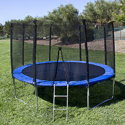 12FT Trampoline Combo Bounce Jump Safety Enclosure Net W/Spring Pad Ladder US MX