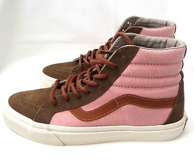 b76e0de9e1df89 Vans Sk8-Hi Reissue Womens Size 8.5 Pink Brown Canvas High Top Sneakers  Shoes