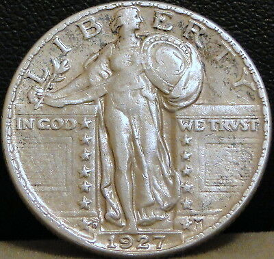 1927-D Standing Liberty Quarter - (Toning/Tarnish)