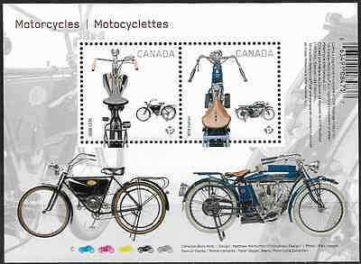 Canada Stamps — Souvenir sheet — Motorcycles #2646 — MNH