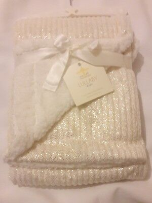 PERSONALIZED Sparkle of Gold MINKY & SHERPA BLANKET **Newborn Baby Shower Gift.