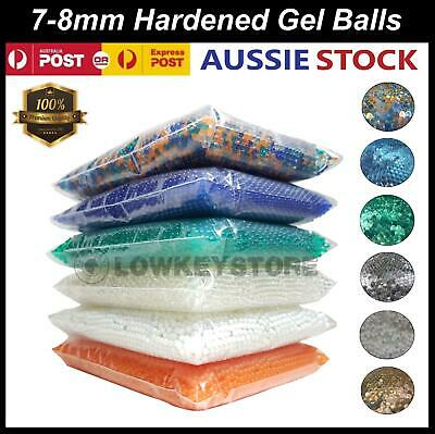 7-8mm Hardened Gel Balls Gel Blaster Toy 10,000 Water Ammo Blue Green White 7mm