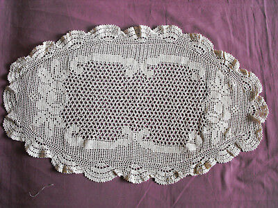 #1210  Beautiful Vintage Hand Made Table Runner  68cm/40cm/(27''x16'')
