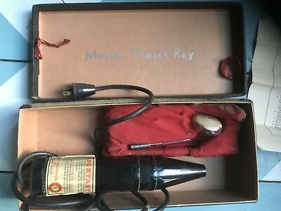 VTG 1930's Violet Ray Quack Medical Device Electric Shock Therapy Black Wand ECT