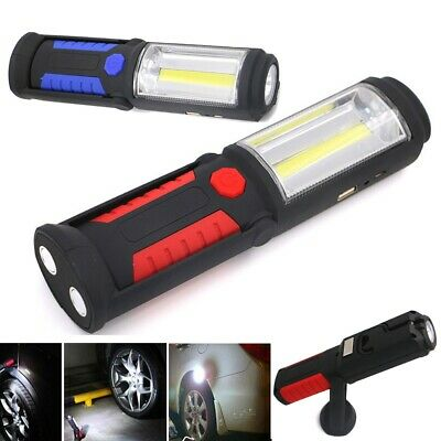 Rechargeable Flexible Magnetic COB+LED Work Light Torch Inspection Lamp Cordless