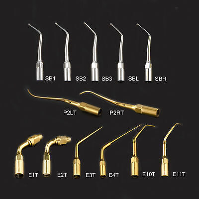 13 Types Dental Fit EMS/WOODPECKER Handpiece Ultrasonic Scaler Cavity Perio Tips