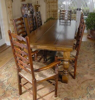 Refectory Table Dining Set - Ladderback Kitchen Chairs