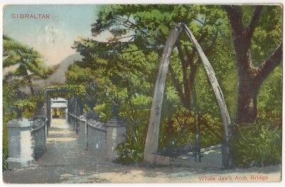 Gibraltar - Whale Jaw's Arch Bridge ~ An Old Postcard Posted 1912  #7-7