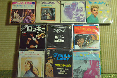 "Lot of 100 Soundtrack 7"" Vinyl Records Japan 45RPM & 33RPM EPs & Singles"