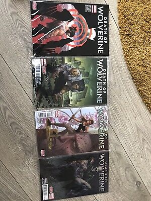 Foil Covers (lim Ed) Death of Wolverine #1 - #4 First Run Marvel Comics FREE P&P