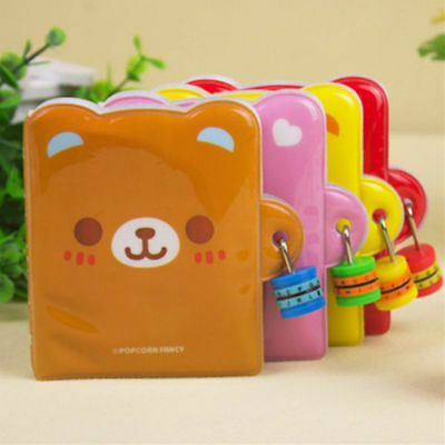 Cute Special Fashion Shape Trend Notepad Diary Notebook Journal Book With Lock