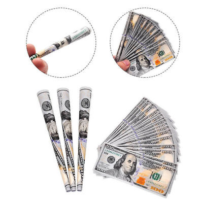 24x US $100 Dollar Bill Rolling Papers 1 Wallet Creative Novelty  Cigarette