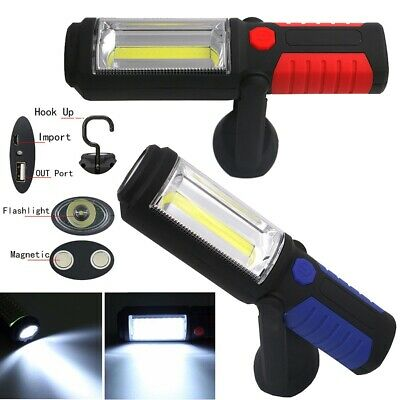 LED COB Inspection Lamp Work Light Flexible Rechargeable Cordless Torch Magnetic