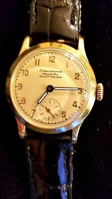 PRISTINE! IWC International Watch Co. 18k Solid Gold, 15J  Wrist Watch. Ca.1930s