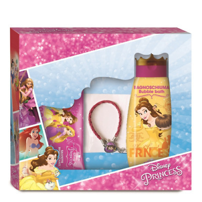 Cofanetto DISNEY Princess Belle - bagnoschiuma + salviette + braccialetto con ci