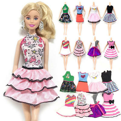 Beautiful Handmade Fashion Clothes Dress For Barbie Doll Cute Lovely Decoration