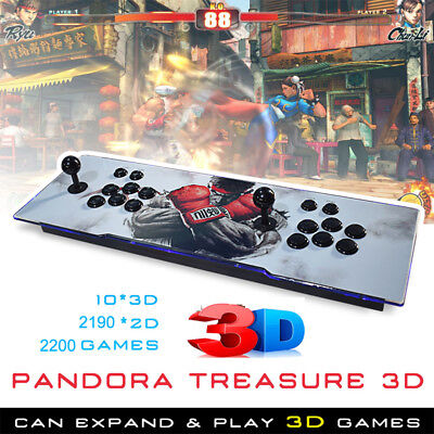 2200 Games Pandora Box Treasure 3D+ Arcade Console Machine Retro Video Game HDMI