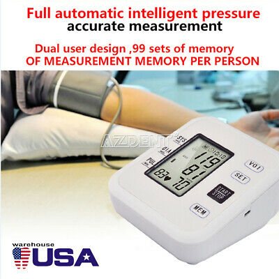 US Automatic Digital LCD Wrist Blood Pressure Monitor Heart Rate Tester w/ Voice