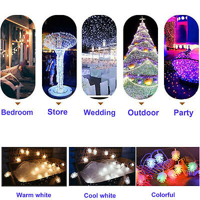 3M LED Pine Cone Tree Lamp Home & Garden Light String Decor for Xmas Party Fairy