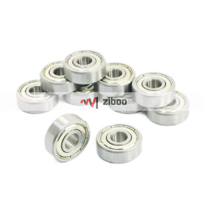 10Pcs 628ZZ Single Row Sealed Deep Groove Ball Bearings 8 x 24 x 8mm