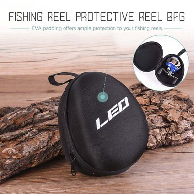 EVA Fishing Reel Protective Case Cover Pouch Storage Portable Tool Bag Black R8