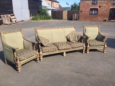 Egyptian revival c1900 three piece suite