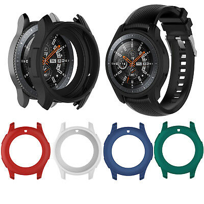 Silicone Protective Case Cover Frame Bumper Shell for Samsung Galaxy Watch 46mm