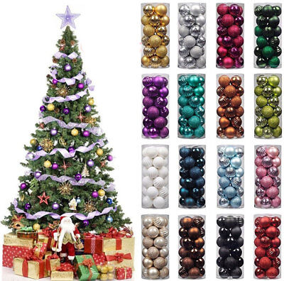 20 Small Christmas Tree Decor Ball Bauble Hanging Home Xmas Party Ornament Decor